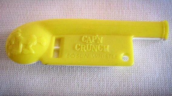 The Cap'n Crunch Bo'sun Whistle: This cereal premium emits a 2600Hz tone, which in the 1960s and 70s could be used to access long distance phone lines without charge.